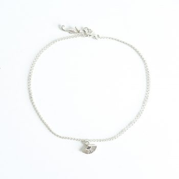summer anklet with seahorse sterling silver