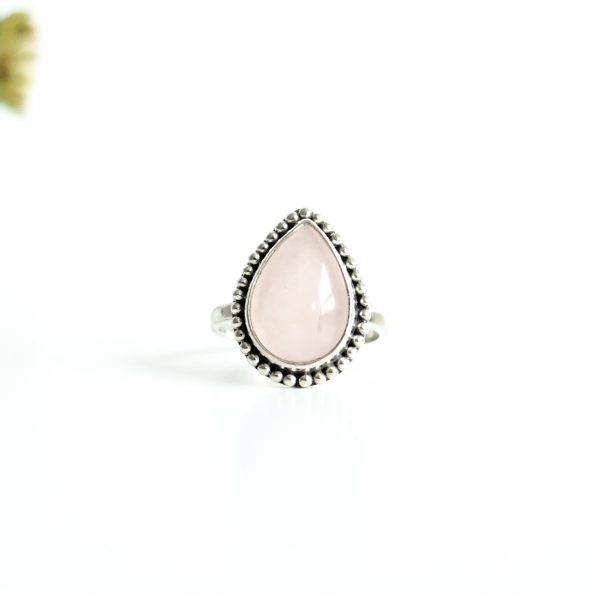 Rose Quartz Drop Detail