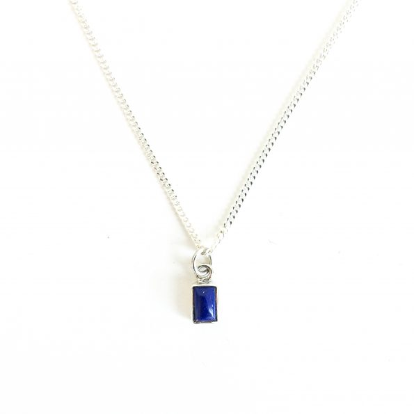 lapis, Lapis Lazuli Rectangle necklace, mayli-jewels.com