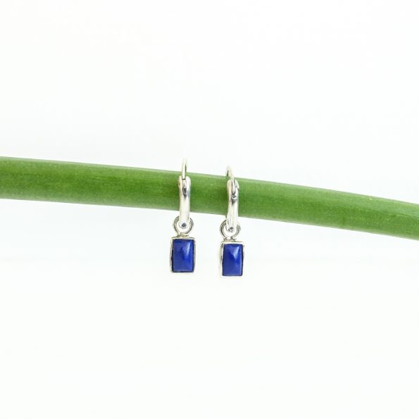 Lapis Lazuli rectangle earring