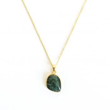 Seraphinite green pendant freestyle
