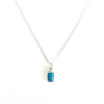Turquoise gold veins necklace