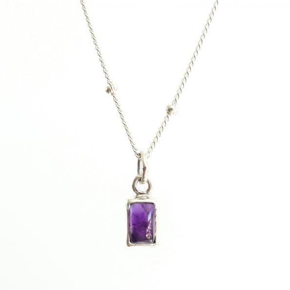 amethyst, Birthstone Necklace Initial Amethyst – Feb, mayli-jewels.com