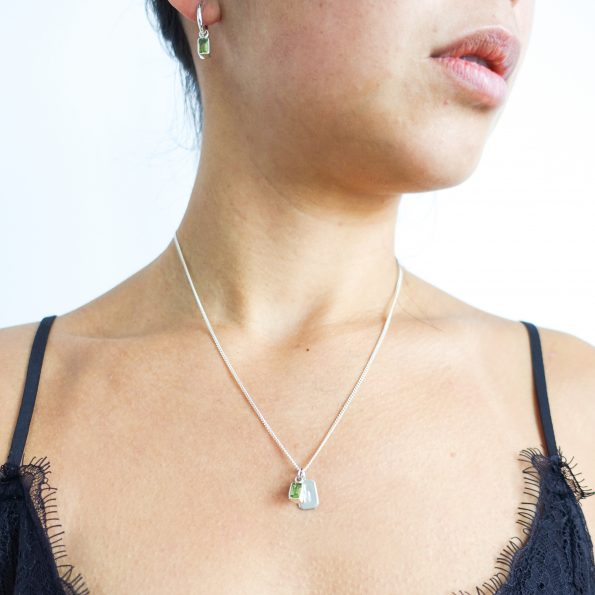 Peridot necklace pendant
