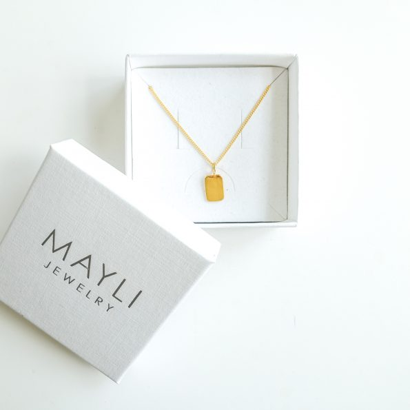 initial, Initial Pendant – fancy chain, mayli-jewels.com