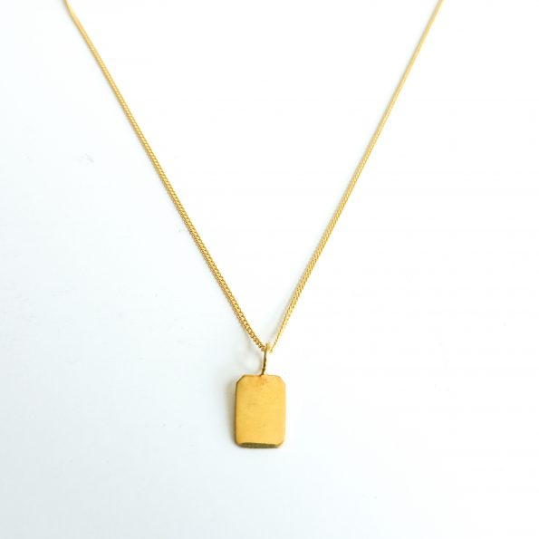 Rectangle pendant gold