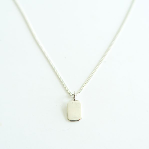 Rectangle pendant silver