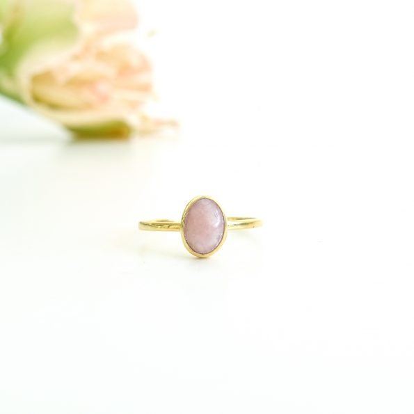 pink, Pink Opal Oval gold, mayli-jewels.com