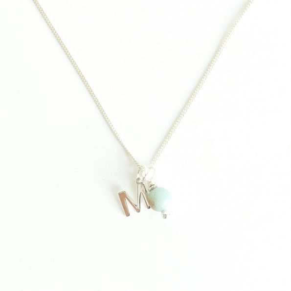 , Energy Initial Necklace Amazonite – Empowering and Self-discovery, mayli-jewels.com