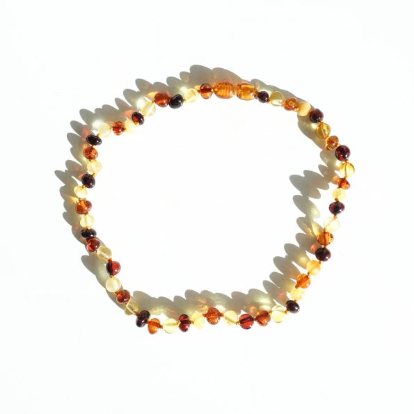 barnsteen, Amber toddler Necklace – Mix, mayli-jewels.com