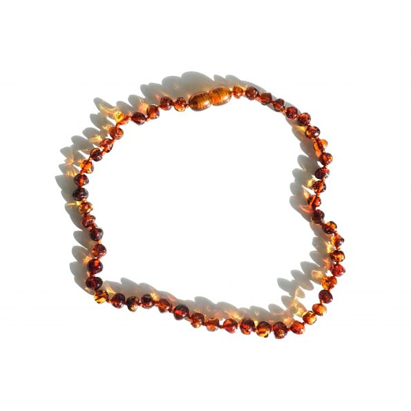 , Baltic Natural Amber toddler Necklace – Cognac, mayli-jewels.com