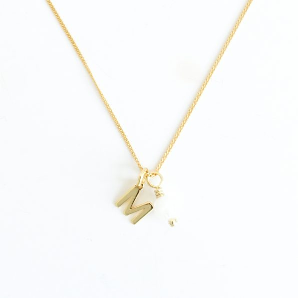 moonstone new gold initial