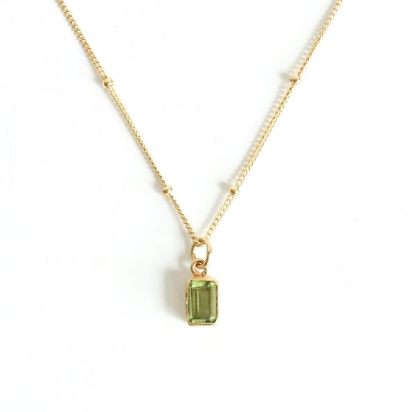 peridot fancy neckalce