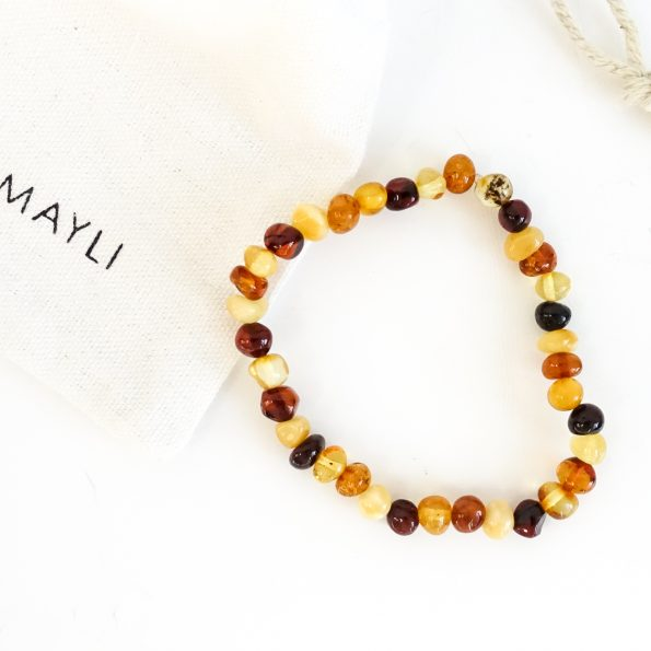 barnsteen, Natural Baltic Amber adult bracelet, mayli-jewels.com