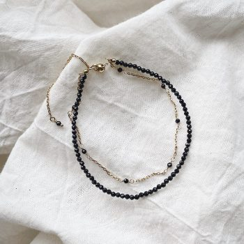 black spinel gold plated