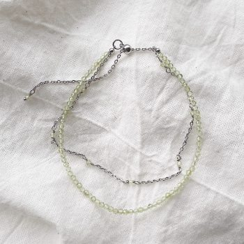 peridot gemstone sterling silver