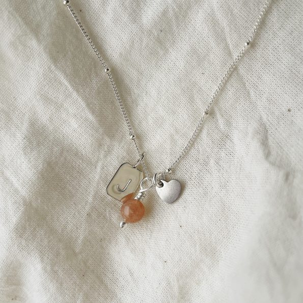Peach Moonstone | New Moon Beginnings | Energy Stone Necklace