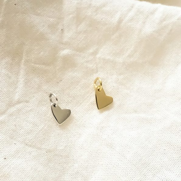 Heart pendant sterling cloth